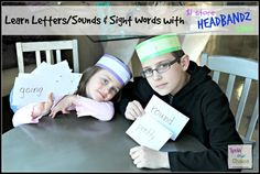 Sight Word Headbandz Game from the $1 store
