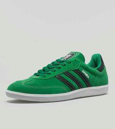 Stunning colourway on these Sambas - Fairway Green suede / Night Black leather trim