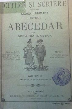 abecedar-3   Romanian ABC book page from 1900