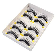 Born Pretty 5 Pairs False Eyelash Volume Thick Long Tail Criss Cross. Length of Eyelash: 0.8cm-1.6cm. Popular, high-quality, and soft handmade false eyelashes. Easy to use,it will look real and natural. With the natural false eyelashes your eyes will look bright and charming. These special natural false eyelashes provide instant glamour and delicate beauty in a subtle way.