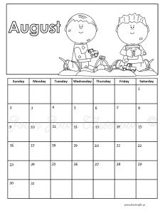 august-2015-calendar-coloring pages