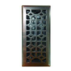 4 In X 12 Oil Rubbed Bronze Steel Marquis Floor Register