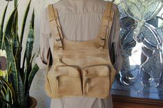 CANTAO Vintage BROWN leather BACKPACK satchel bag by hipwithstyle-Etsy