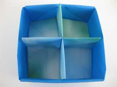 Origami box with divider