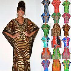 Taj Mahal Printed Boho Maxi Kaftan Full Length Dress Cover Up S M L Xl 1X 2X 3X