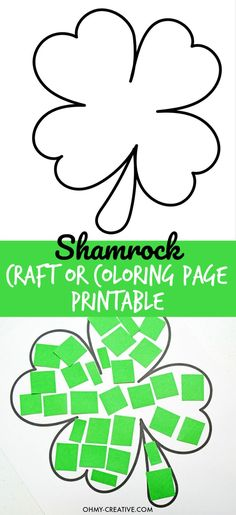 Cut And Paste Shamrock Template or Coloring Page – Oh My Creative Cut And Paste Shamrock Template or Coloring Page – Oh My Creative,St. Patrick's Day Events Use my referral code fvxknmj to earn. March Crafts, St Patrick's Day Crafts, Daycare Crafts, Preschool Crafts, Kids Crafts, Craft Projects, Holiday Crafts, Crafts For Preschoolers, Easy Crafts