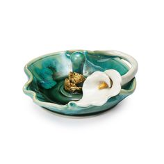 Porcelain Lily Ring Holder | Ceramic Ring Dish | UncommonGoods