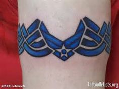 What does air force tattoo mean? We have air force tattoo ideas, designs, symbolism and we explain the meaning behind the tattoo. Hot Tattoos, Tattoos For Guys, Tatoos, Bear Tattoos, Feather Tattoos, Tribal Tattoos, Celtic Tattoos, Air Force Tattoo, Patriotic Tattoos