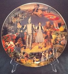 "Wizard Of Oz Bradford Exchange Plate ""Follow The Yellow Brick Road"""