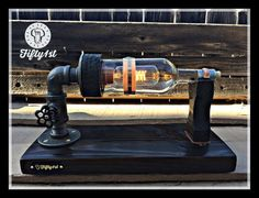 Lampe de Table steampunk « Basilic », lampe de Table industrielle, remis en état