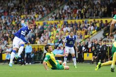 17 August 2013 Ross Barkley gets the season off with a bang as he powers home a left foot drive away to Norwich