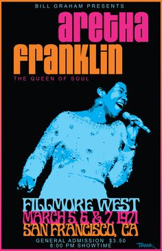 Aretha Franklin 1971 Tour Poster.           R E S P E C T  yeah baby when you get home.......
