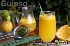 Hoje é o Suco de Maracujá com Capim Cidreira que pela combinação é uma bebida muito refrescante, com um sabor indescritível e com muitas propriedades ...