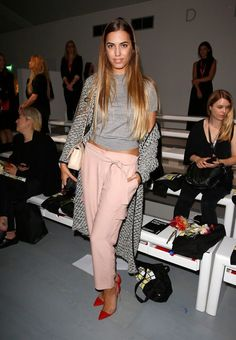 Amber Le Bon Photos: Day 2: Front Row - London Fashion Week SS15 - Celebrity Fashion Trends