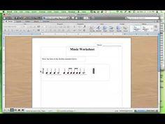 Tutorial: Making Rhythm Worksheets using Music Fonts. So simple!