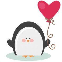 Valentine Penguin SVG file for scrapbooking cardmaking valentines svg files free svgs cute svg cuts