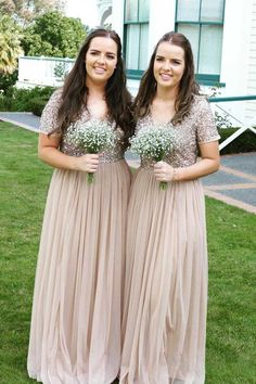 Buy A Line Long Cheap Chiffon V Neck Beads Sparkly Short Sleeve Bridesmaid Dresses uk in uk.Rock one of the season's hottest looks in a burgundy homecoming dress or choose a timeless classic little black dress. Burgundy Homecoming Dresses, Bridesmaid Dresses 2018, Bridesmaid Dresses With Sleeves, Affordable Bridesmaid Dresses, Bridesmaid Dresses Plus Size, Cheap Prom Dresses, Girls Dresses, Flower Girl Dresses, Wedding Dresses