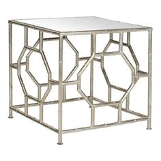 I want this in brass. Do I buy it and gold leaf it? Rory Mirrorred Accent Table