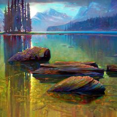 'Spirit Isalnd. 36 X 48 in. oil on canvas - Mountain Galleries - SOLD. copyright Brent Lynch