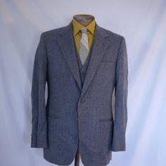Vintage Men's 3 piece Suit Gray wool size 36  38 by HouseOfRetro, $69.99