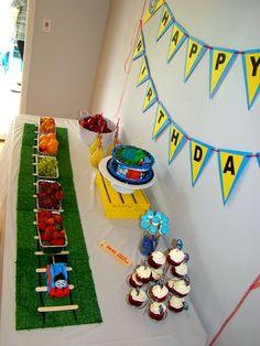 "Photo 1 of 28: Thomas the Train / Birthday ""Choo, Choo Julian is three!!"" | Catch My Party"
