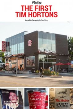 Did you know there is actually a museum dedicated to Canada's favourite coffee shop? Read on for my time visiting the Very First Tim Hortons in Hamilton. Canadian Facts, Canadian History, Coffee To Go, Coffee Shop, Travel Articles, Travel Tips, Tim Hortons Canada, Tim Hortons Coffee, Priscilla Barnes