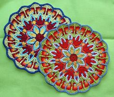 crochet overlay mandalas