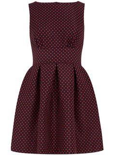 Navy polka cut back dress - Dresses  - Clothing