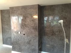 Inspiration of Polished Plaster Walls Wall Colors, Paint Colors, Plaster Texture, Venetian Plaster Walls, Drywall Ceiling, Polished Plaster, Interior Fit Out, Interior Design, Living Room Tv Unit Designs