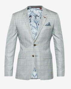 3baa7ff14813d1 Deluxe wool checked jacket - Gray