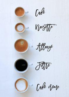5 ways to order coffee in Paris @everdayparisian @rebeccaplotnick