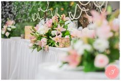 Maria and Reinhard's gorgeous whimsical pretty pink and sea green fall garden wedding ceremony and reception at Madsen's Greenhouse in Newmarket Greenhouse Wedding, Garden Wedding, Fall Wedding, Wedding Ceremony, Reception, Pretty In Pink, Birch, Wedding Photos, Table Decorations