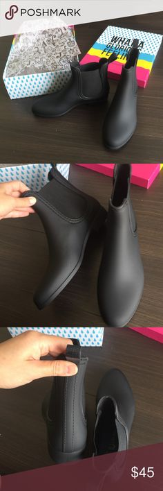 Jeffrey Campbell chealsy rain boots. Size 7 New in box. In perfect new condition. True to size 7. Black. Genuine rubber. Jeffrey Campbell Shoes Ankle Boots & Booties