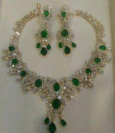 Set de esmeraldas y diamantes