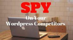 https://youtu.be/lBMDWedb_JcWordpress tutorial - Spy On Your Competitors Themes and Plugins