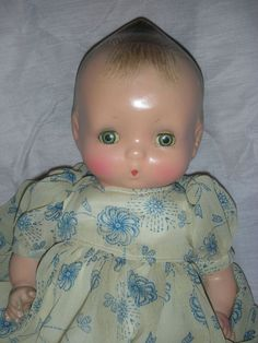 Rare Horsman Dolls | Rare Horsman Jeanie Baby Composition Doll 1930s Molded Hair from ...