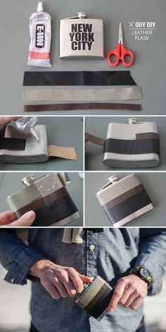 Leather-Wrapped Flask | 21 DIY Projects Your Boyfriend Wishes You Would Make