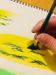 painting trees with a fan brush step by step acrylic - 236×314