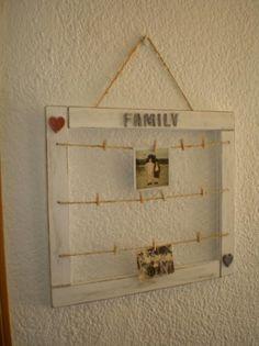 marco vintage para fotos madera acrilicos,cuerda y tela gallinero montaje