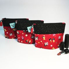 Cotton snap Designs: Mini zipper pouch Geisha 4 x Geisha, Zipper Pouch, Diaper Bag, Mini, Cotton, Handmade, Bags, Design, Fashion