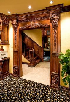 Benefits that you could derive by using the interior wood doors for your home or office. Wooden Door Design, Main Door Design, Wooden Doors, Victorian Interiors, Victorian Homes, Home Interior Design, Interior Decorating, Decorating Ideas, Pooja Rooms