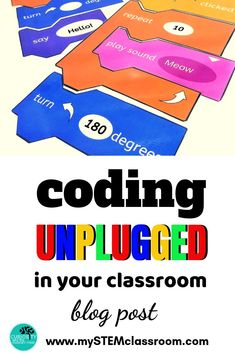 Coding Unplugged in your classroom Unplugged coding can help students to understand how to build an Science Resources, Science Lessons, Teaching Science, Science Activities, Teaching Kids, Science Experiments, Coding For Kids, Math For Kids, Kindergarten Stem