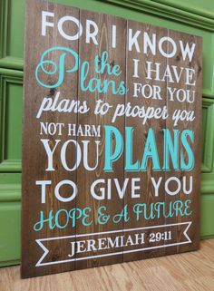 Planked Jeremiah Bible Verse Wood Sign by HomeLoveDesigns on Etsy