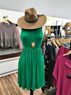 Carlyle Dress - Kelly Green
