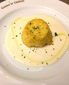 Sformatino di zucca su crema al gorgonzola #vda #yummy by www.ristorantedeiconti.it