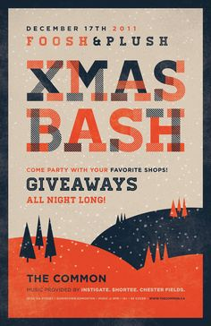 XMAS BASH by Gordon Montgomery, via Behance