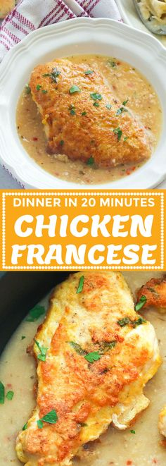 Chicken Francese - Immaculate Bites #recipe #easyrecipes #lemon #chickenrecipes #dinnerrecipes Healthy Turkey Recipes, Yummy Chicken Recipes, Yum Yum Chicken, Duck Recipes, Stuffed Whole Chicken, How To Cook Chicken, Food For Thought, Meals, Dinners