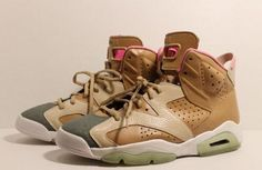 How Dope are these shoes. Yeezy colored Air Jordan 6's
