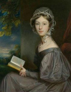English lady with a book
