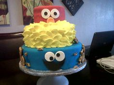 Sesame Street - This cake was inspired by one I saw here on CC.  It was for my son's Pre-K graduation.